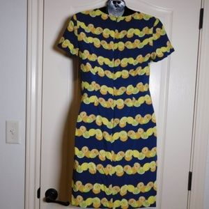 Banana Republic Dresses - Banana Republic Citrus Print Dress Lemons Limes 0